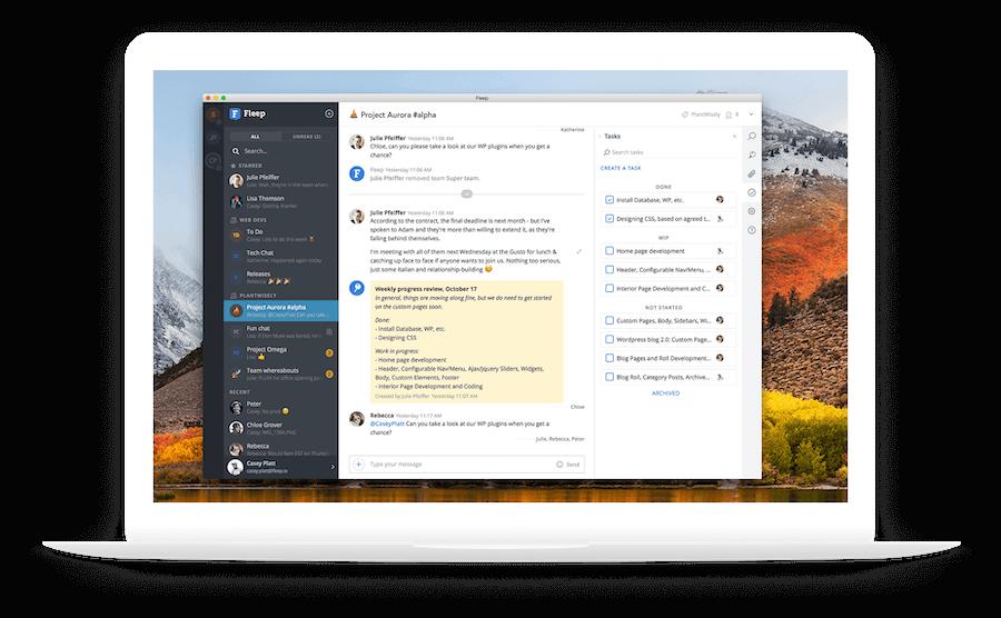 Fleep chat desktop