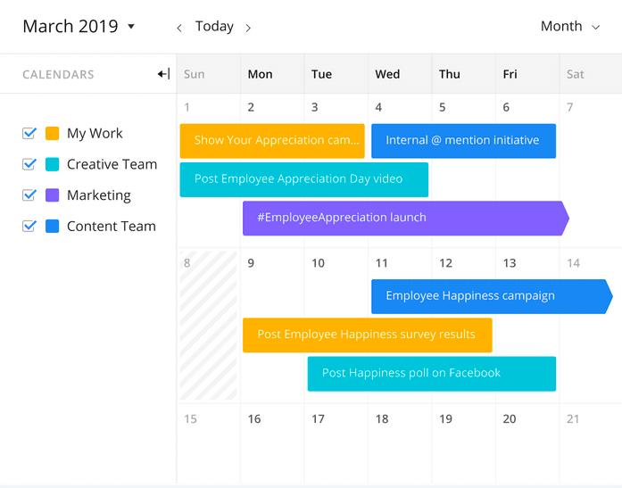 Wrike calendar