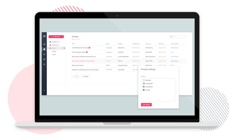 Mockplus task management tool