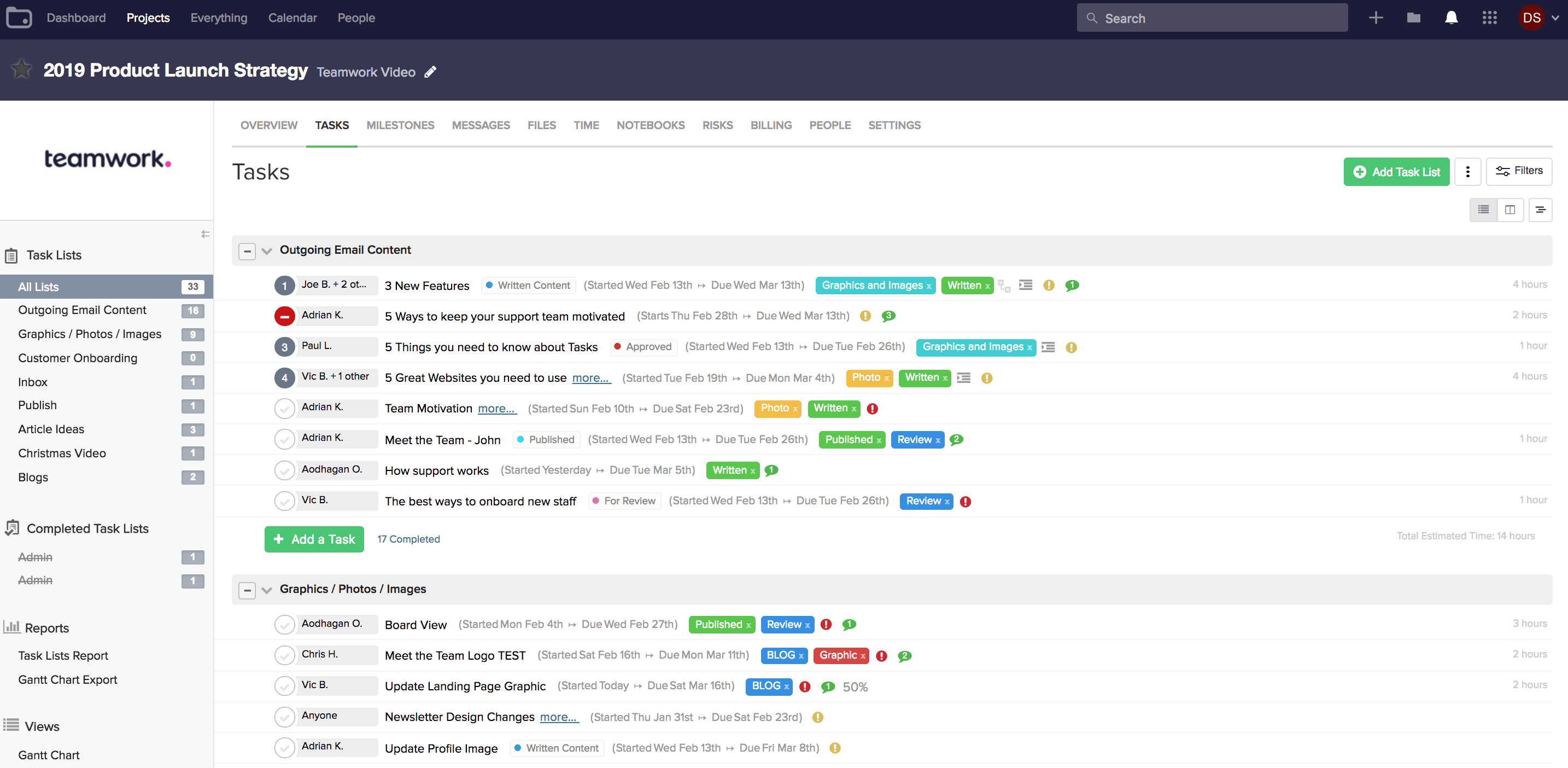 Teamwork PM tool