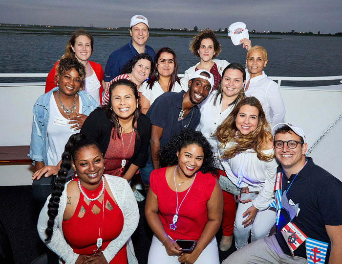FreedomCare workers at a cruise party