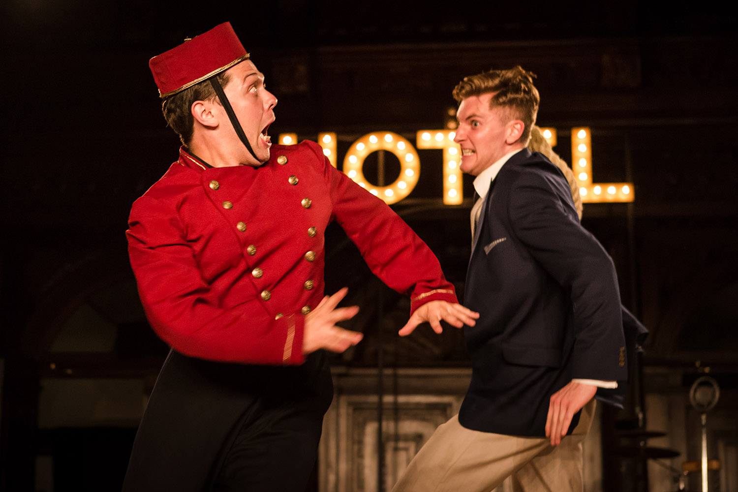 Keith Higinbotham and Alex Hooper in Antic Disposition's The Comedy of Errors (2016)