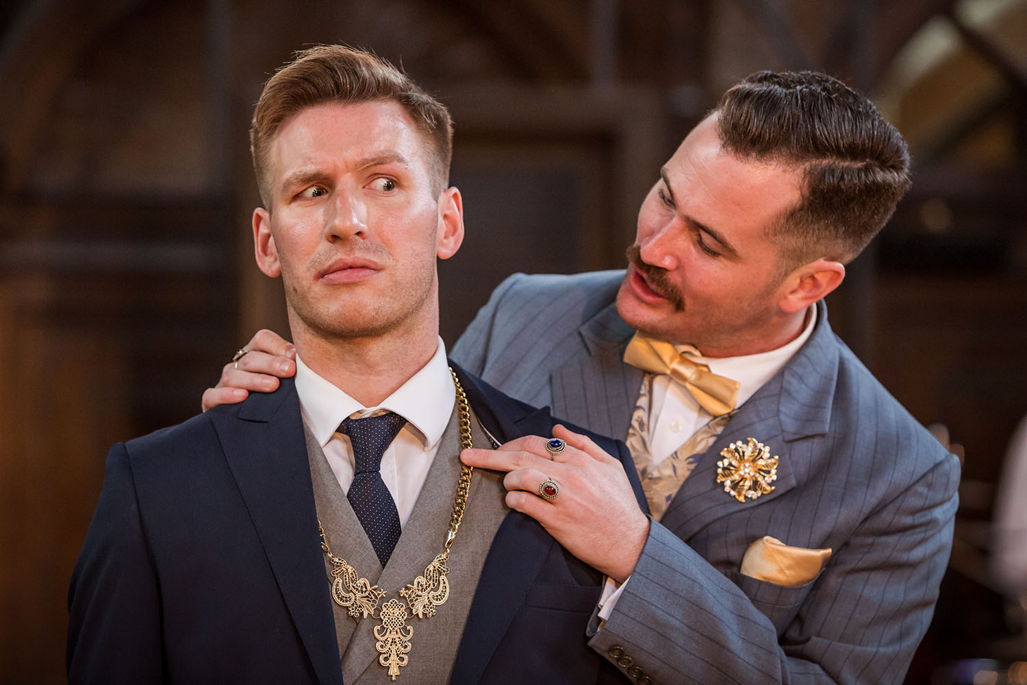 William de Coverly and Paul Sloss in Antic Disposition's The Comedy of Errors (2016)