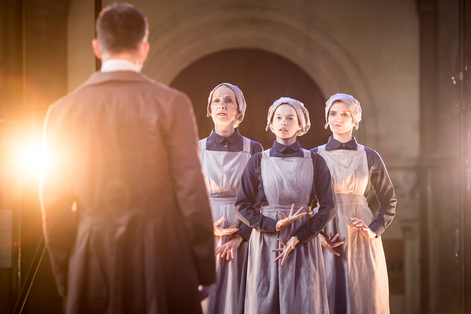 Louise Templeton, Robyn Holdaway and Bryony Tebbutt (Witches) in Antic Disposition's Macbeth (2019)