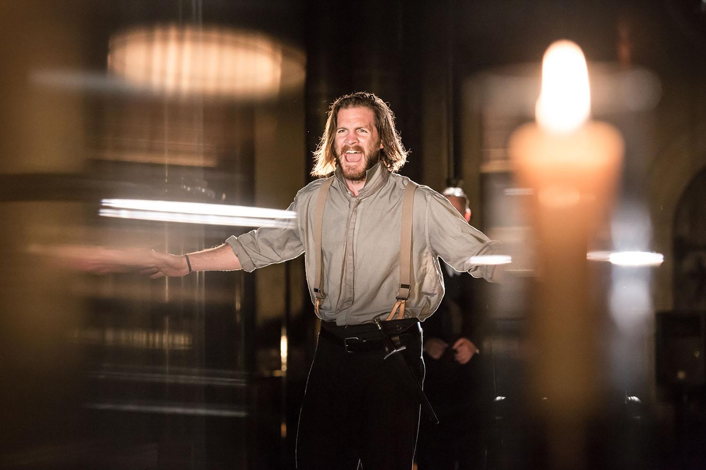 Harry Anton (Macbeth) in Antic Disposition's Macbeth (2019)