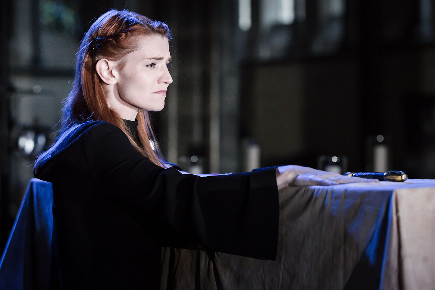 Bryony Tebbutt (Lady Anne) in Antic Disposition's Richard III (2017)