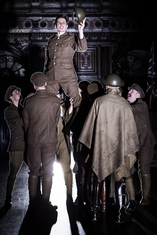 Freddie Stewart (Henry V) in Antic Disposition's Henry V (2015)