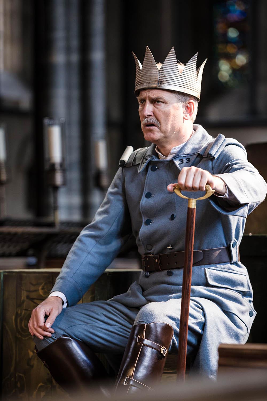 Maurice Byrne (King of France) in Antic Disposition's Henry V (2015)