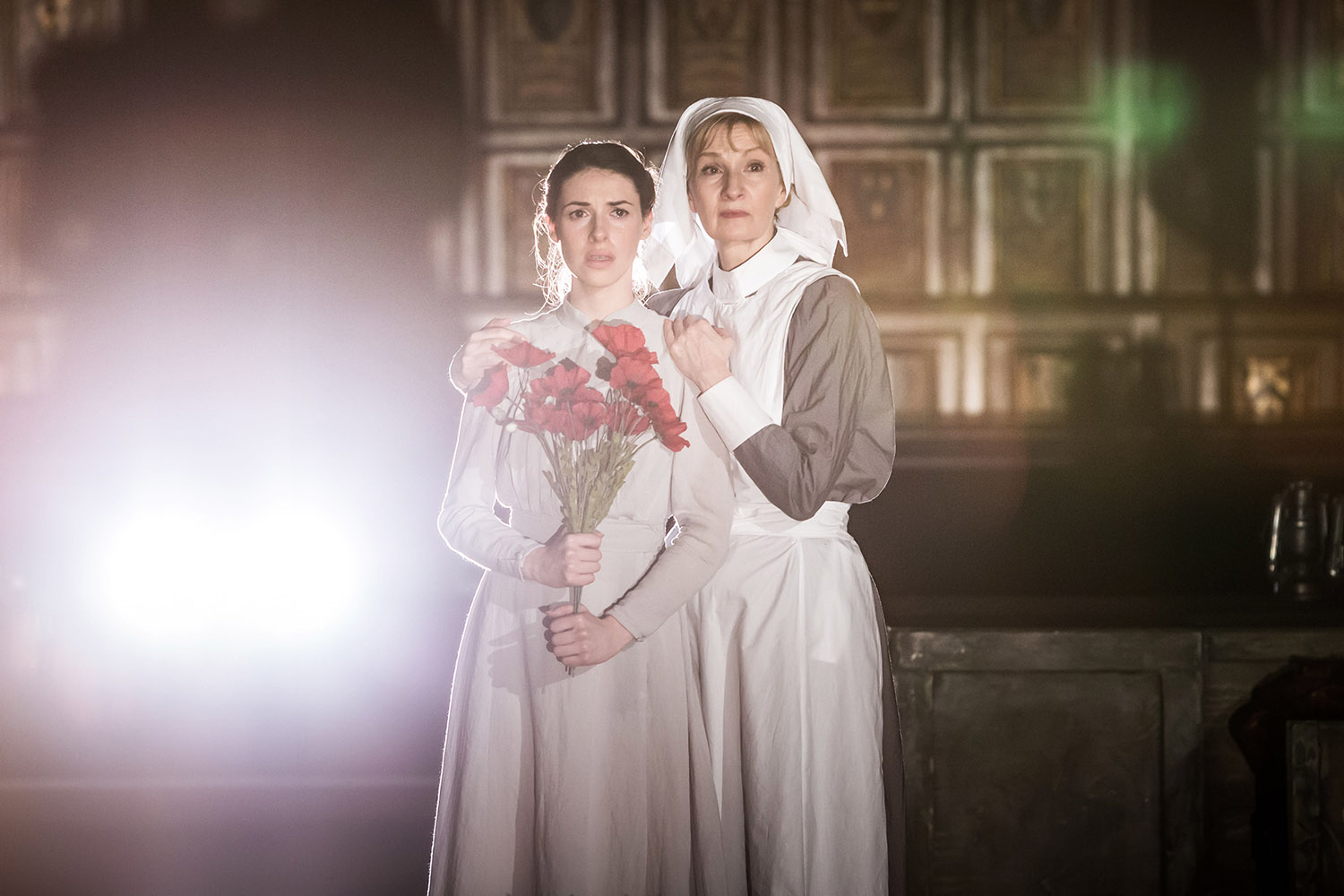 Floriane Andersen and Louise Templeton in Antic Disposition's Henry V (2015)
