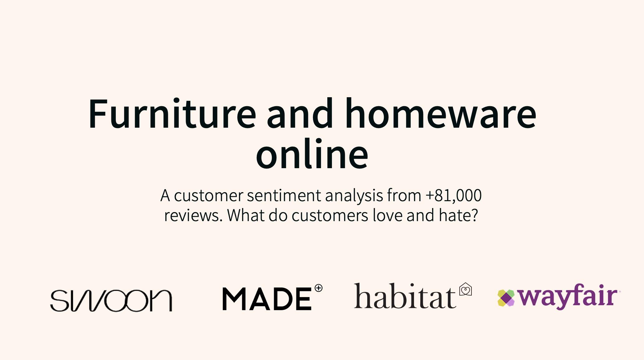 Online Furniture & Homeware: Customer Sentiment Analysis, 2020