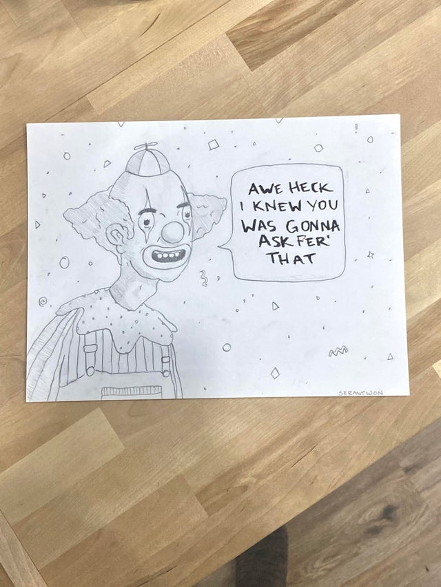 r/funny - I work at a call center (well, from home now). I like to draw my callers every now and again. This is all the callers that hit me with this response when asked for information they had been told they would need before I pick up