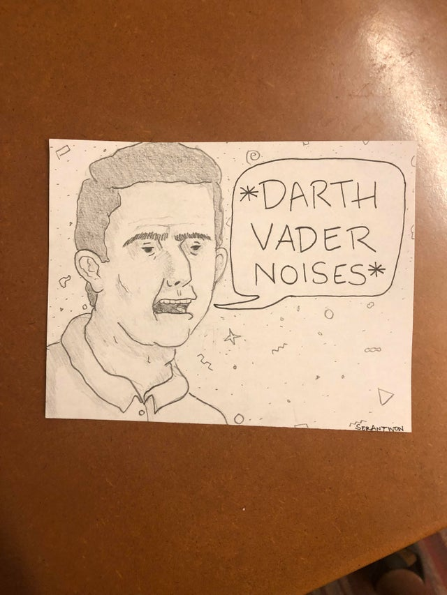 r/funny - I work at a call center. Sometimes I like to draw what my callers might look like. Here's Doug the mouth breather from today: