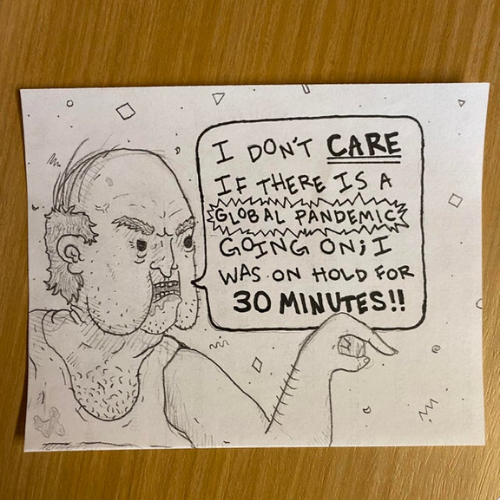This guy works in a call center and draws rude customers—they are hilarious