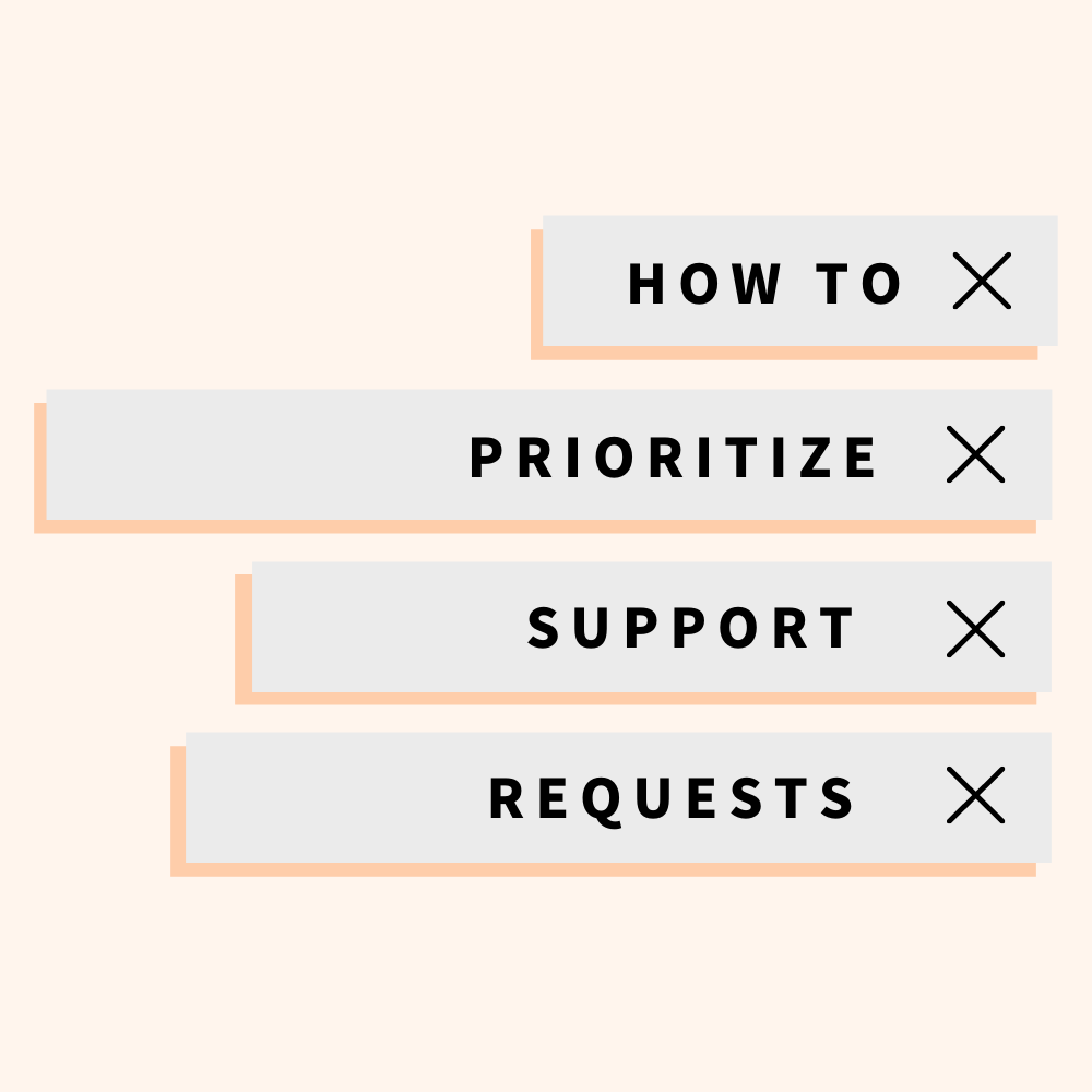 prioritize customer support issues