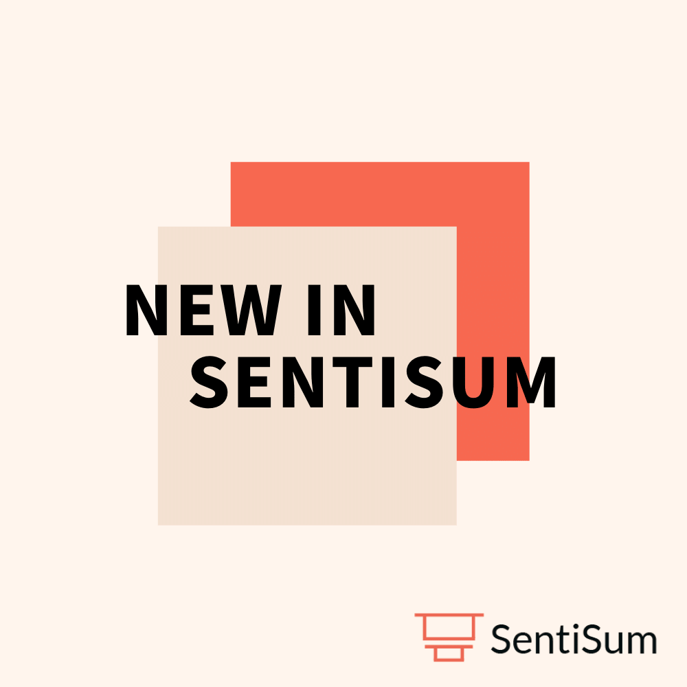 New in SentiSum: Customised Views and Advanced Filters
