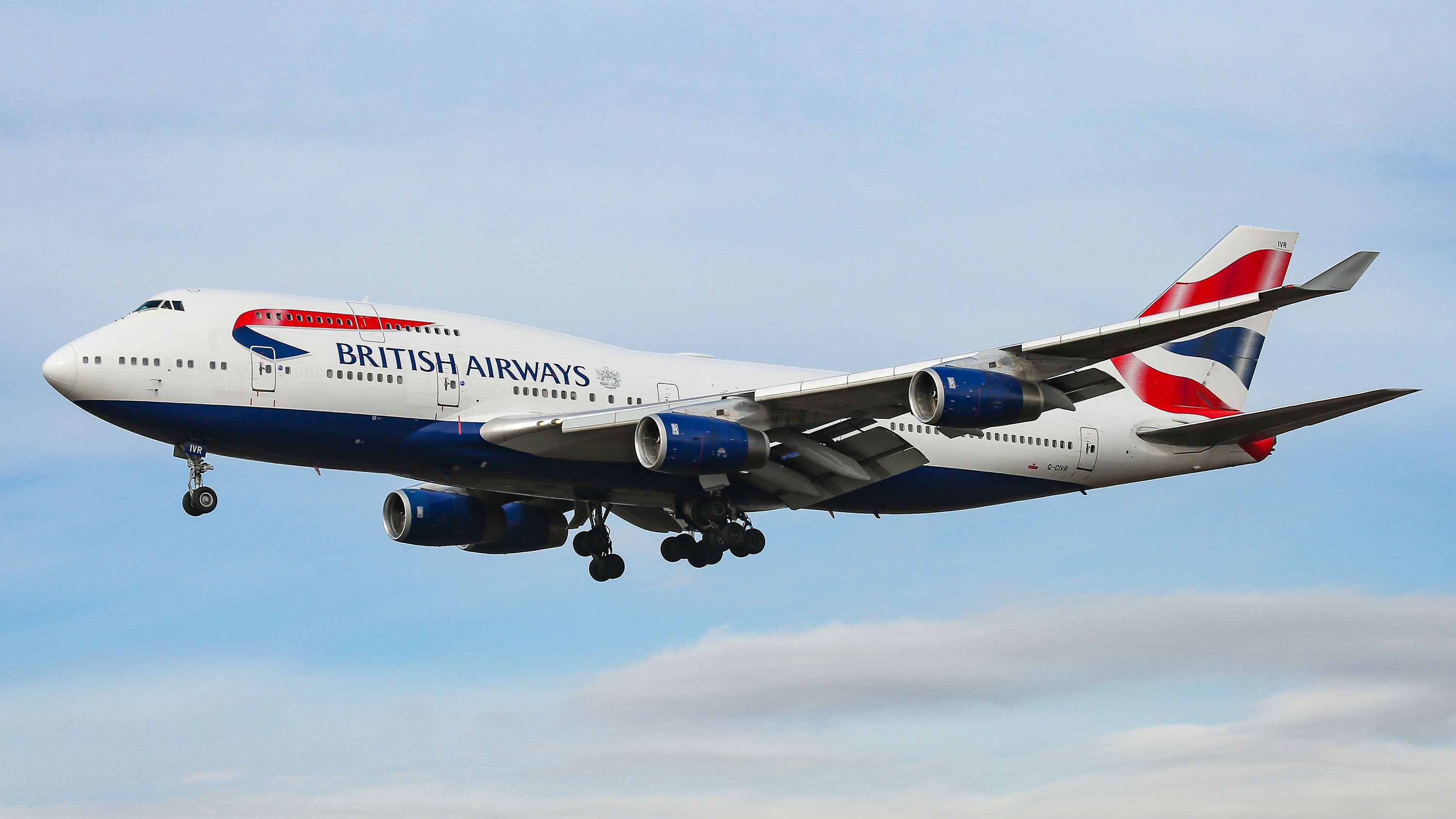 This is a picture of a British Aiways airplane.