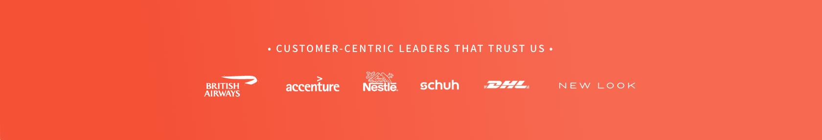 Customers using SentiSum's conversational analytics platform