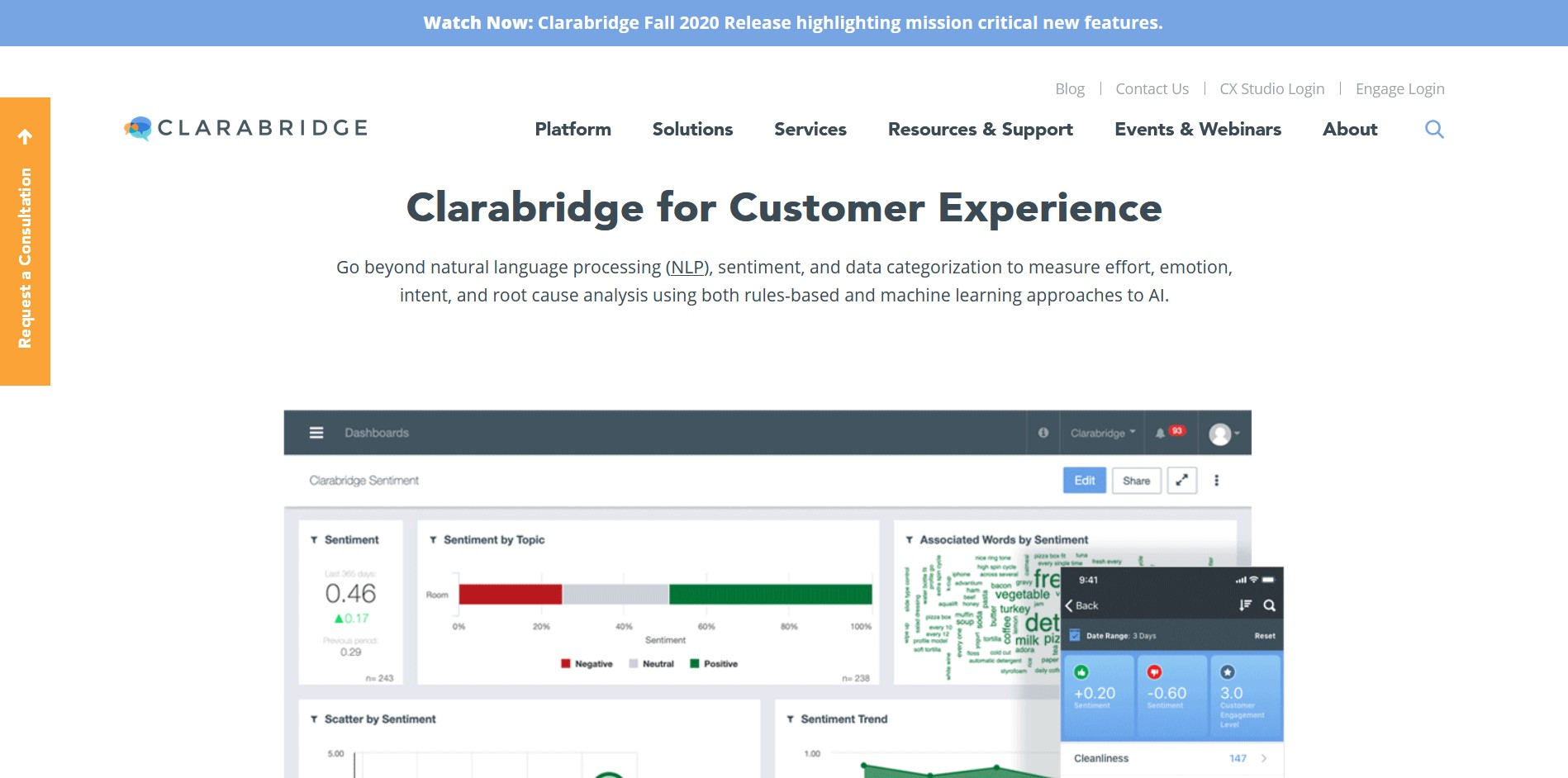 Clarabridge Software Screenshot