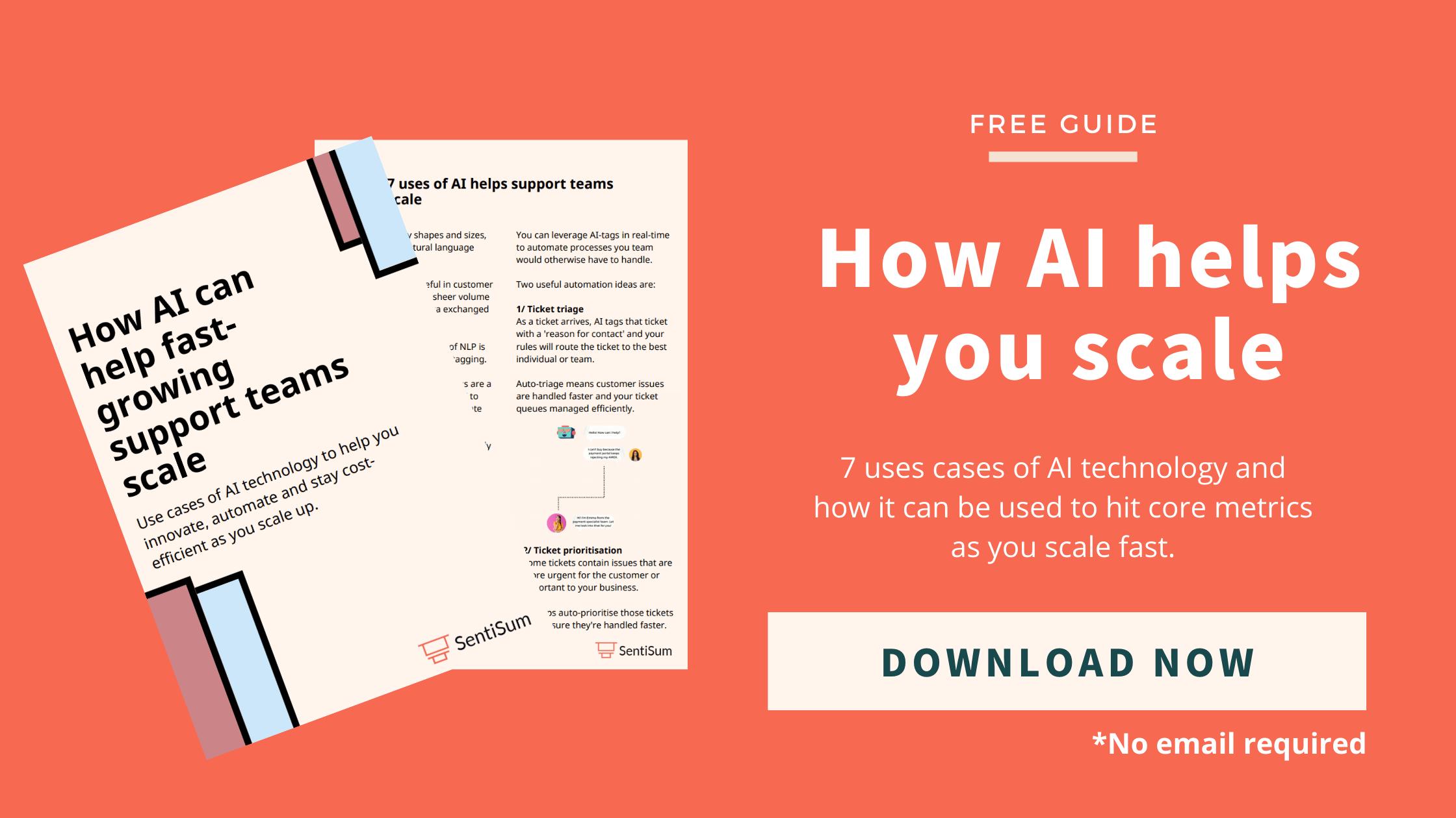 AI for customer service ebook