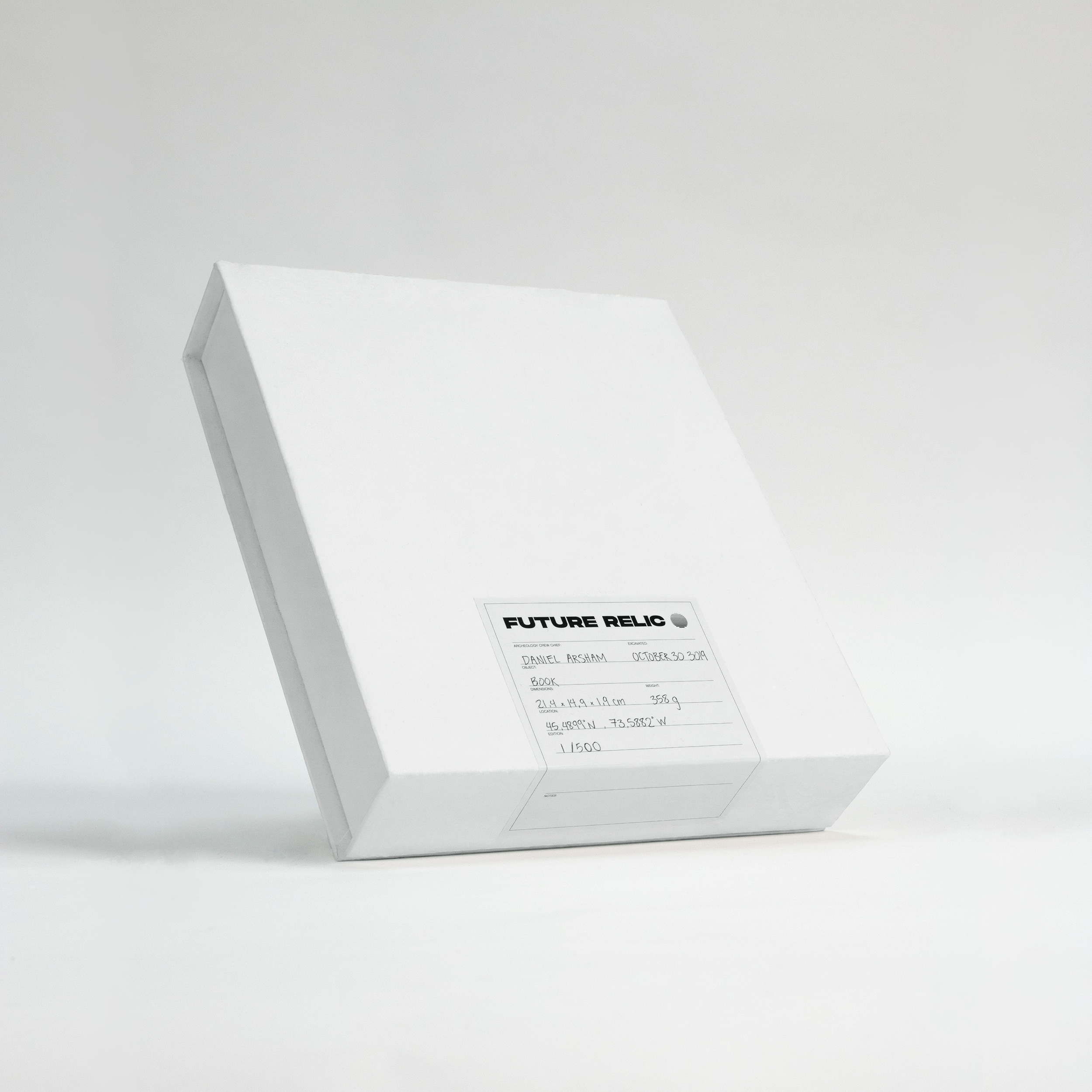 Future Relic white box cover
