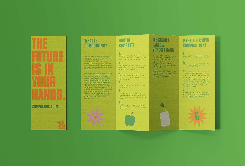 Compost Montreal information pamphlet
