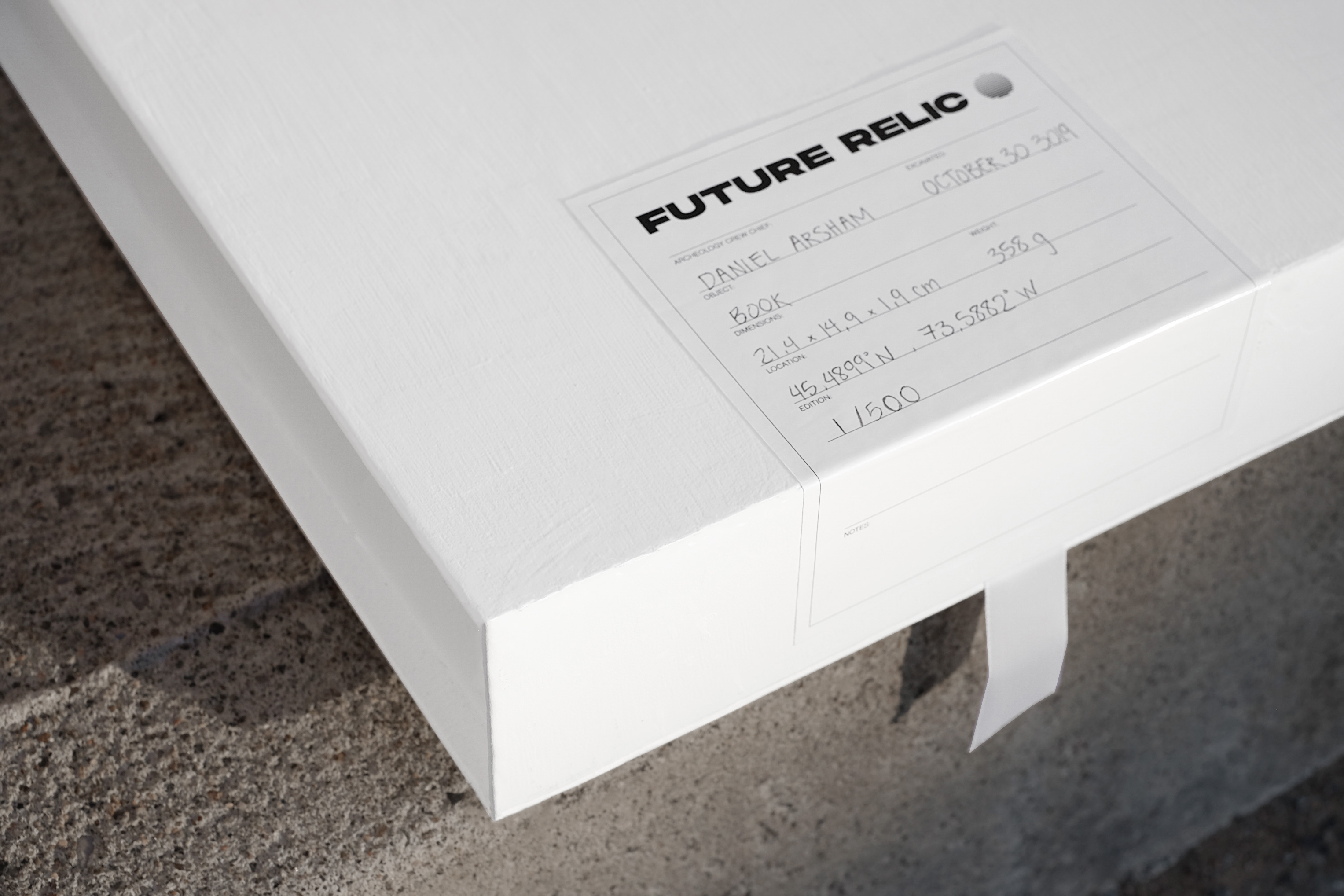 Future Relic packaging close up