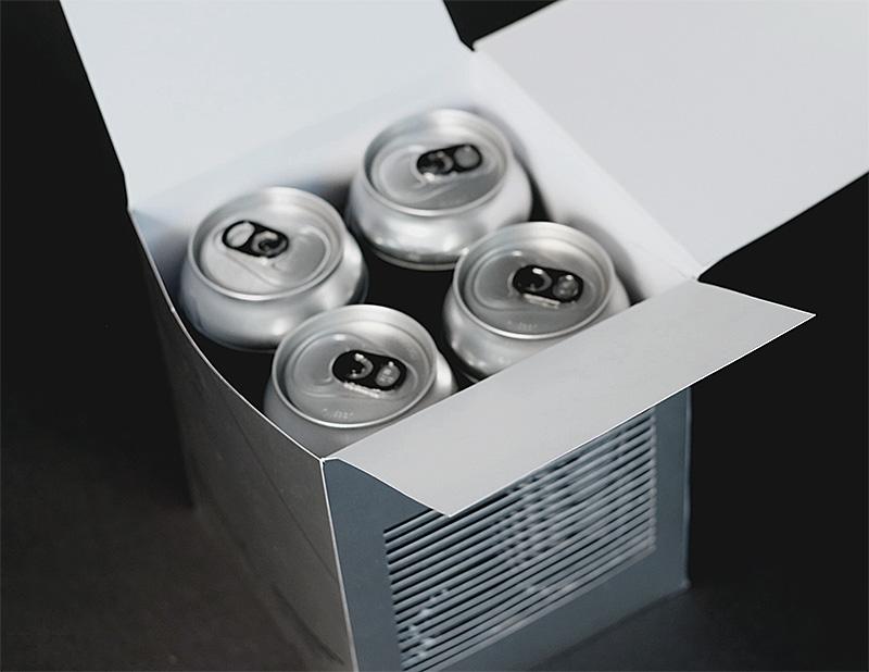 X-Acto ale beer packaging open