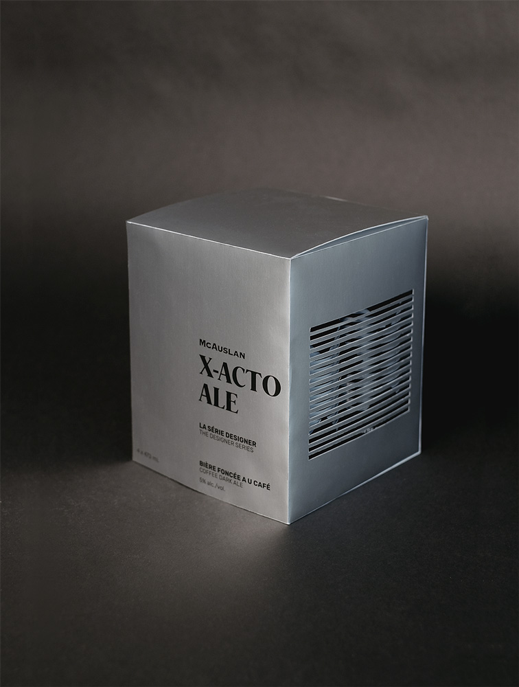 X-Acto Ale beer packaging closed