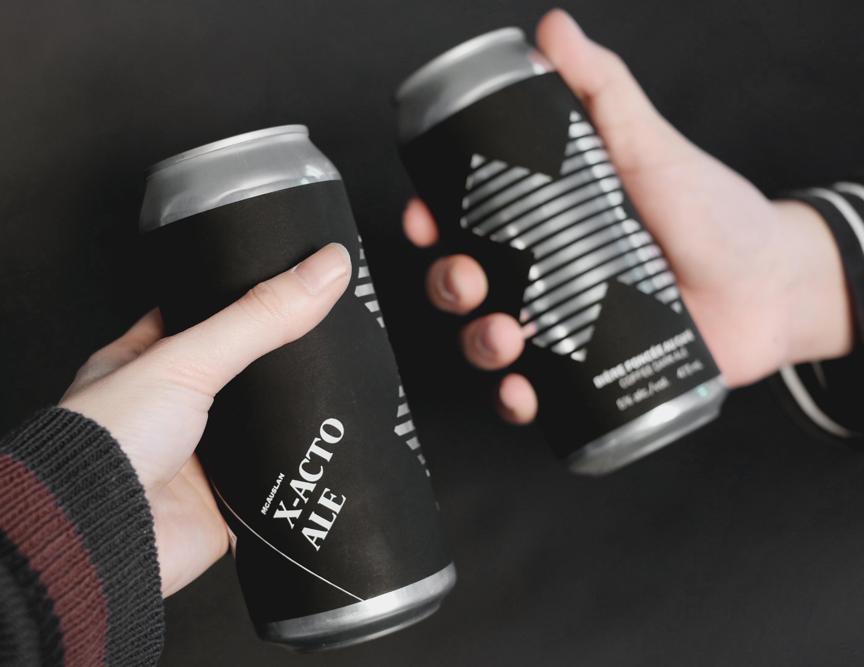 X-Acto Ale beer cheers between friends