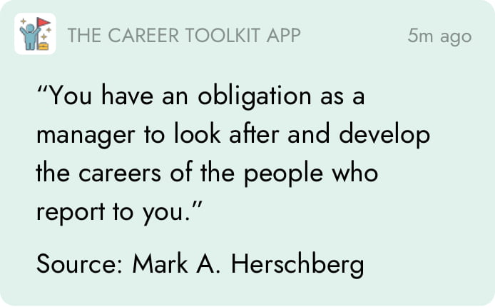 The Career Toolkit App Notification