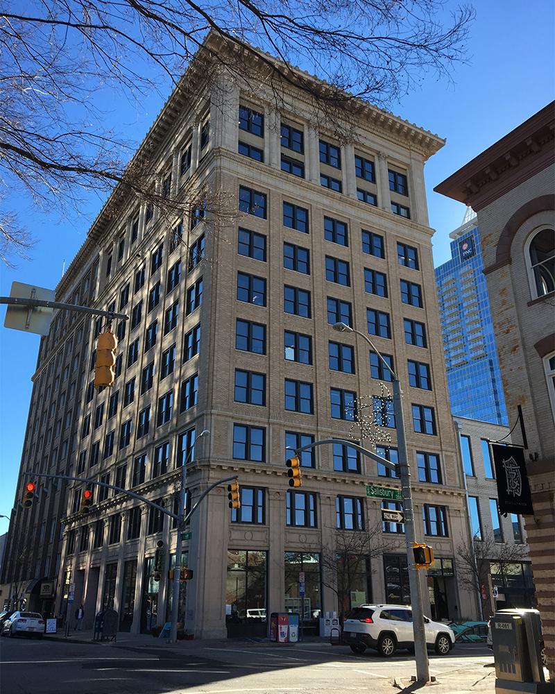 Exterior of Odd Fellows Building 19 W Hargett Street Raleigh NC