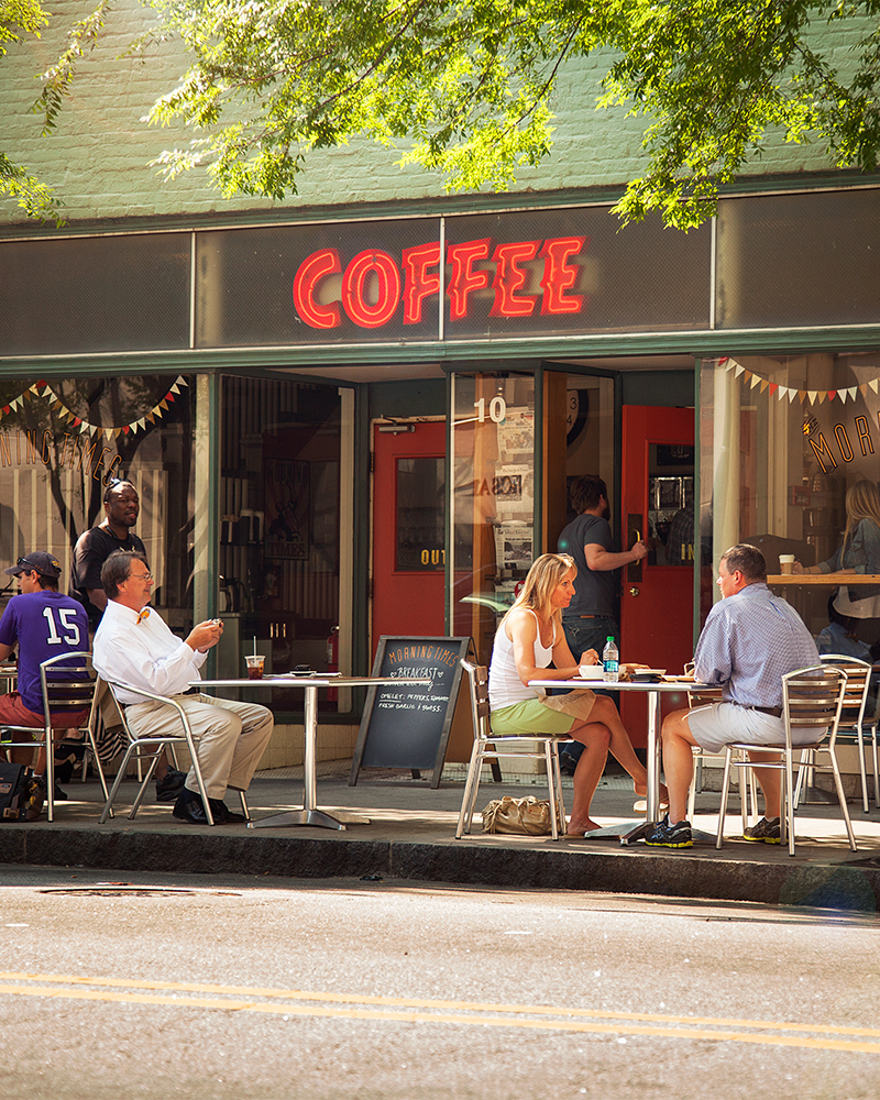 Morning Times exterior hargett street downtown raleigh