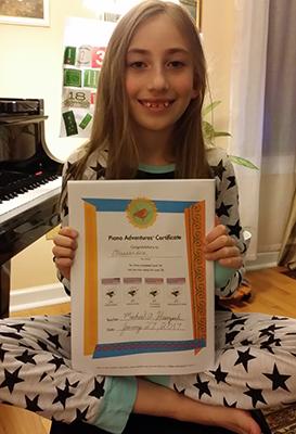 kids playing music at Greenwich Arts AcademyMadri passes her test at Greenwich Arts Academy