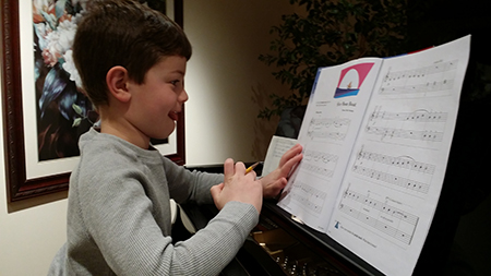 Harry learns to write music at Greenwich Arts Academy.