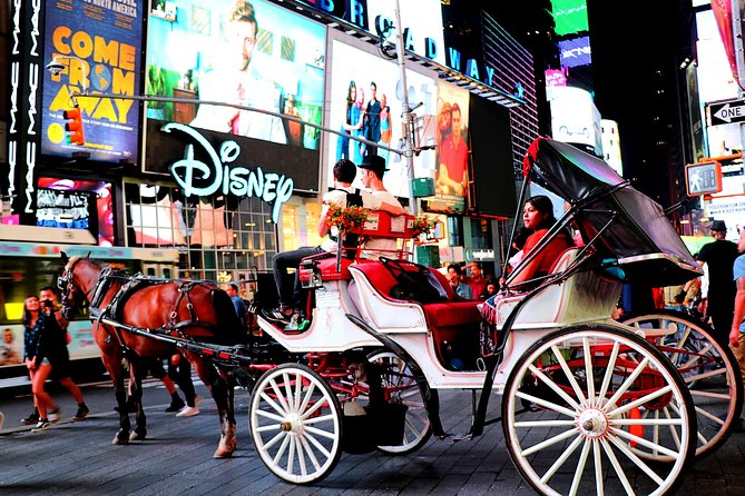 Ride a carriage in Times Square with your friends from Greenwich Arts Academy
