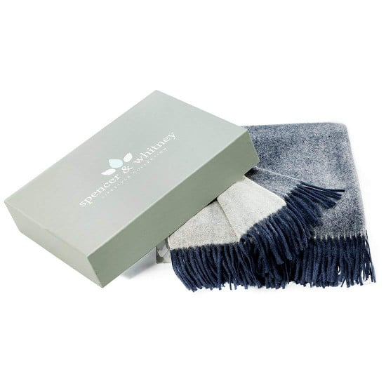 australian wool throw in gift box