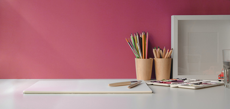 dark pink tone home office color
