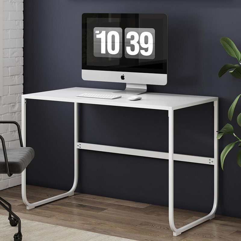 lightweight white metal computer desk
