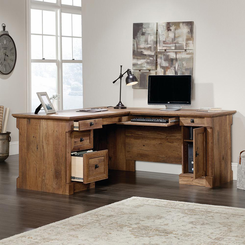traditional style l-shape desk