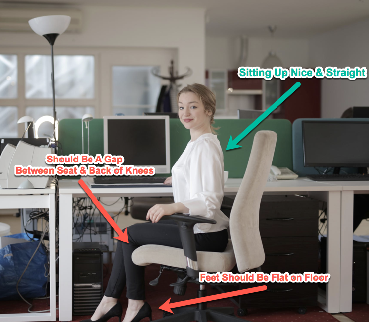 proper office chair posture