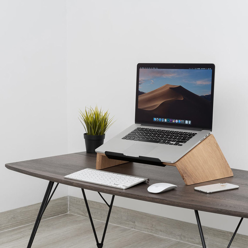 wood laptop stand from Etsy