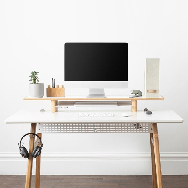 home office monitor stand by artifox