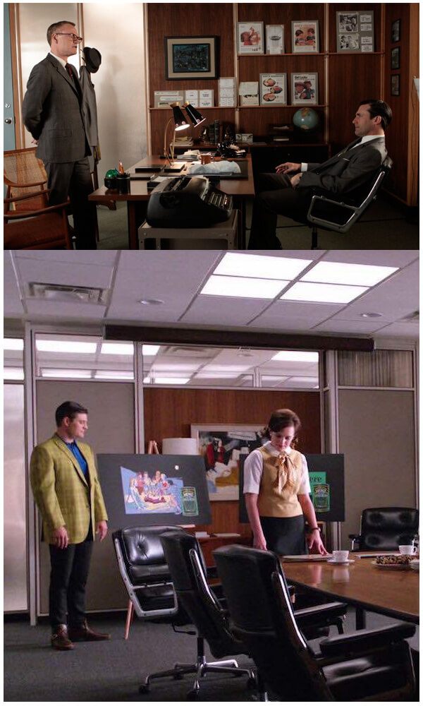 eames executive chair featured in Mad Men