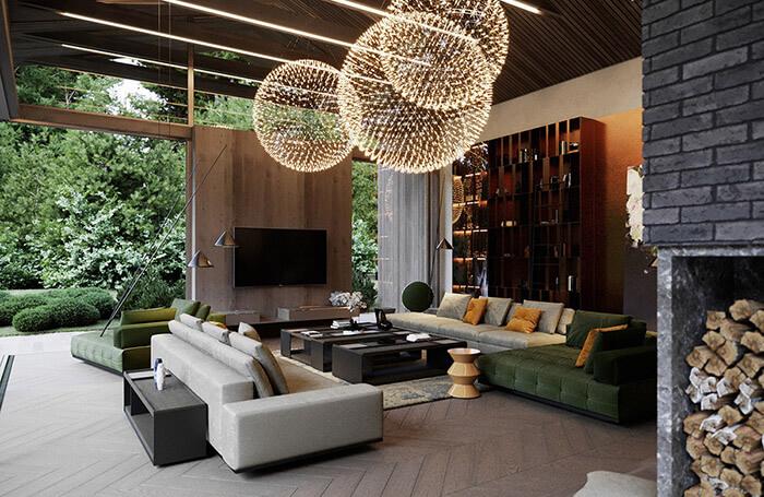 luxury living room setup