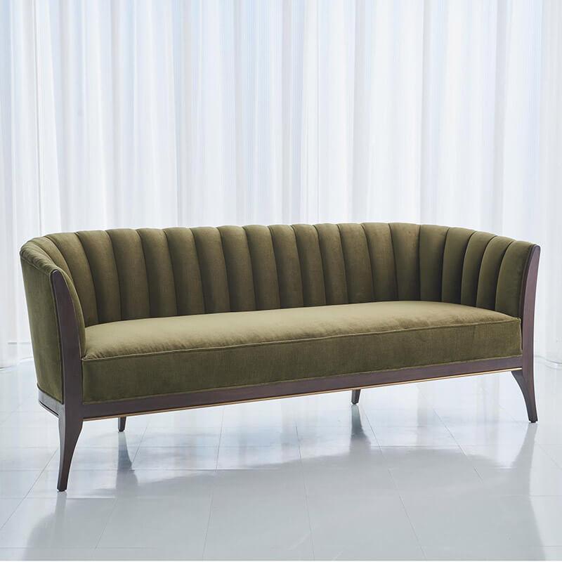 luxury green sofa by George Sellers