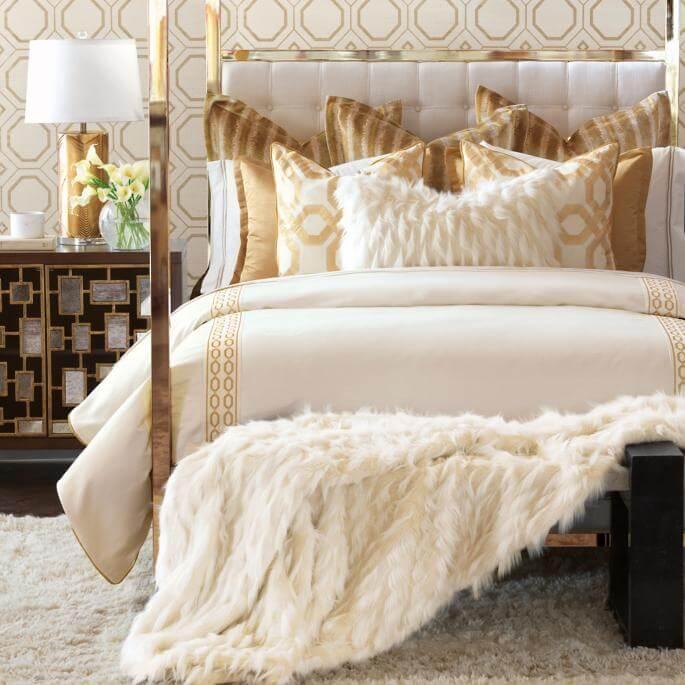 luxury bedroom bedding and blankets