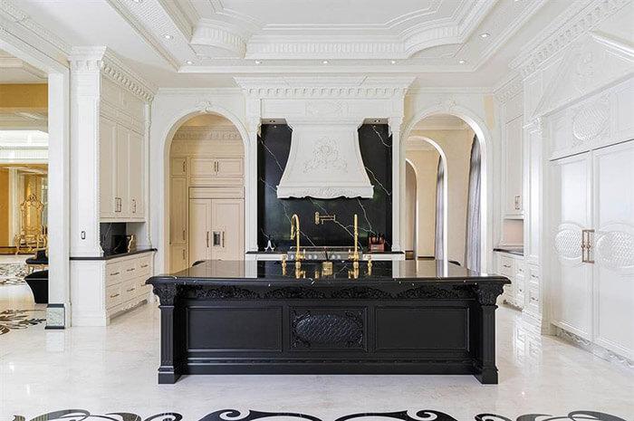 luxury kitchen black island