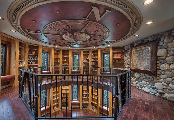 luxury home office bookshelves