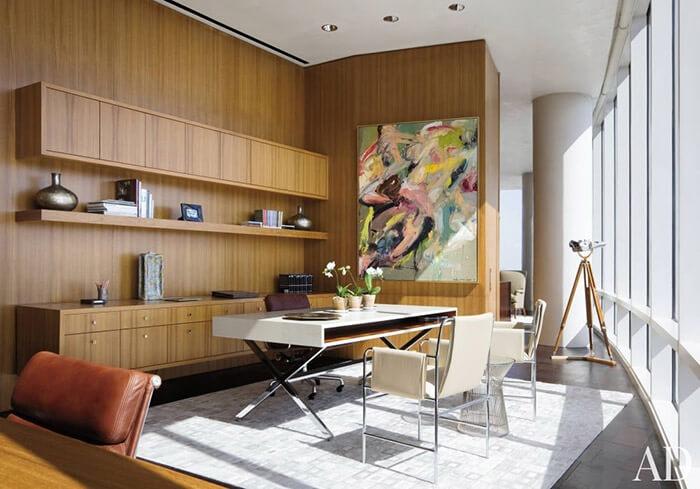 Sleek mid century modern luxury home office