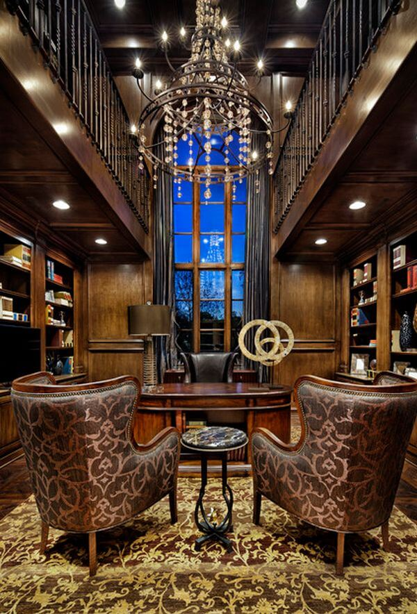 two story luxury home office